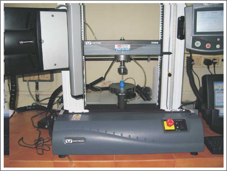 Figure 1: Fracture testing using Instron Universal Testing Machine